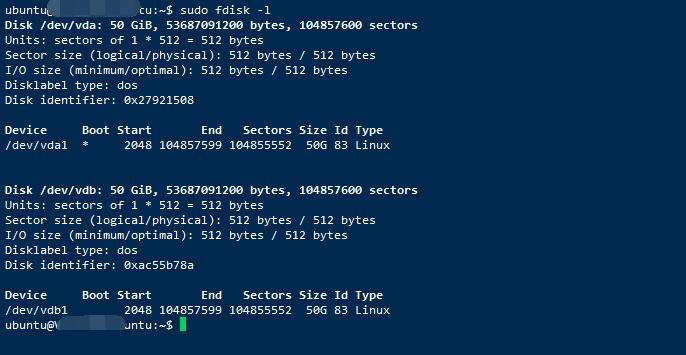 腾讯云服务器Ubuntu 16 挂载新数据盘